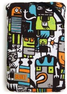 BUILT Kindle Fire Neoprene Twist Sleeve Robot Uprising Gray